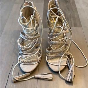 Missguided beige heels.